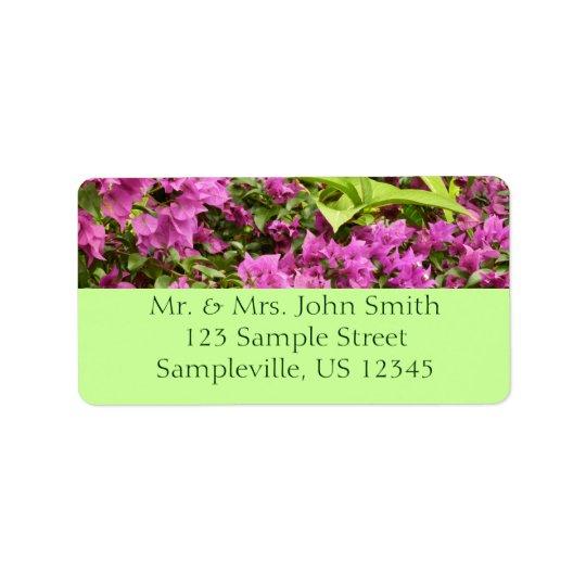 Tropical Purple Bougainvillea Label