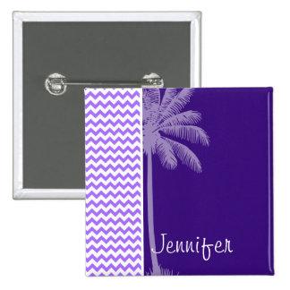 Tropical Purple Chevron Pin