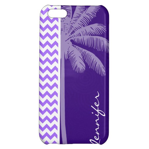 Tropical Purple Chevron Case For iPhone 5C