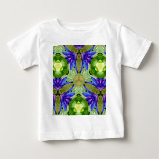 Tropical Purple Green Artistic Abstract Baby T-Shirt