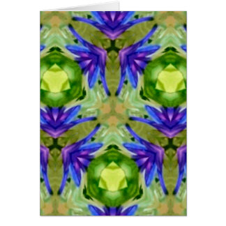 Tropical Purple Green Artistic Abstract Card
