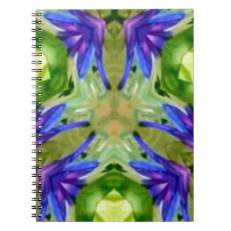 Tropical Purple Green Artistic Abstract Note Book
