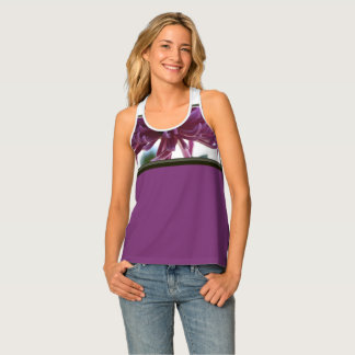 "Tropical ""Purple Passion"" Women's Sport Tank"