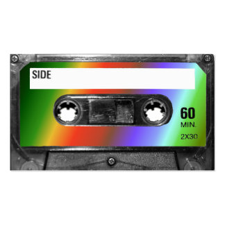 Tropical Rainbow Label Cassette Pack Of Standard Business Cards