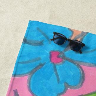 Tropical Rainbow Party Beach Towel