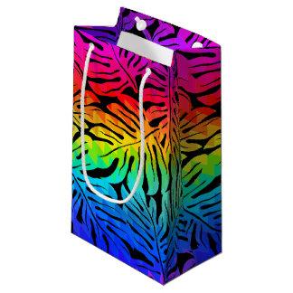 Tropical rainbow small gift bag