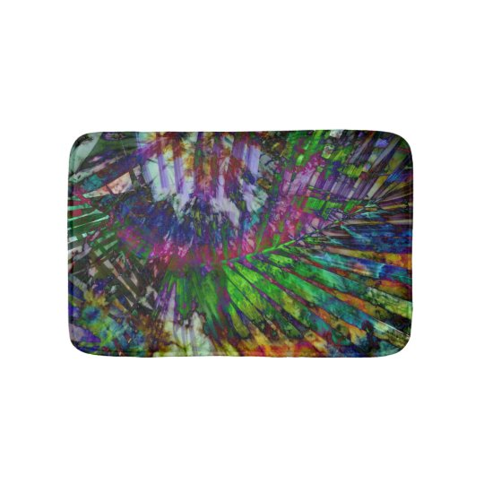 Tropical Rainbow Tiedye Delight bath mat