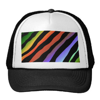 Tropical Rainbow Zebra Stripes Trucker Hat
