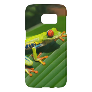 Tropical rainforest green red-eyed tree Frog Samsung Galaxy S7 Case