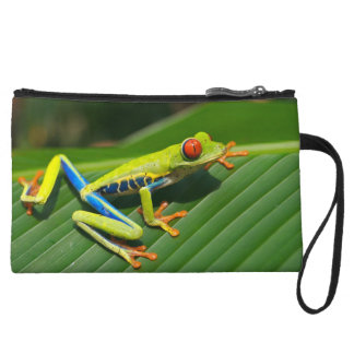 Tropical rainforest green red-eyed tree Frog Wristlet