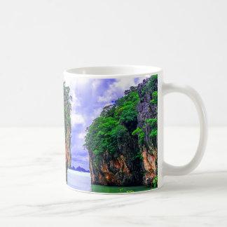 Tropical Rainforest Island Cliffs Coffee Mug