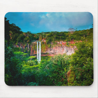 Tropical Rainforest Waterfall Mouse Pad