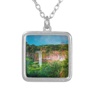 Tropical Rainforest Waterfall Silver Plated Necklace
