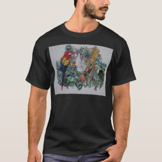 Tropical Rainforest Wildlife Collage T-Shirt
