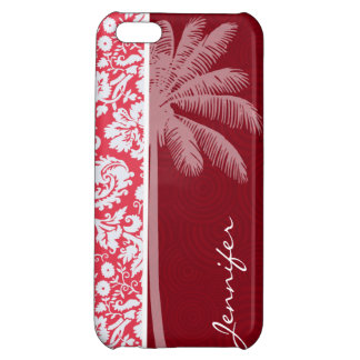Tropical Red Damask iPhone 5C Cover