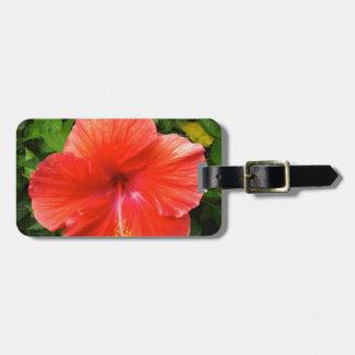Tropical Red Hibiscus Bonita Springs Florida Luggage Tag