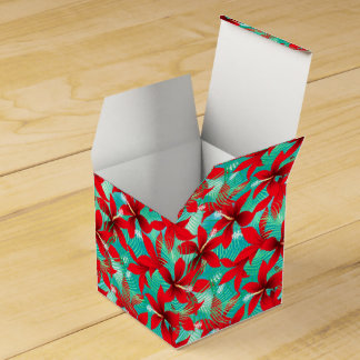 Tropical red hibiscus favor box