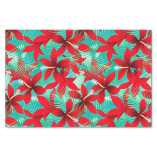 Tropical red hibiscus tissue paper