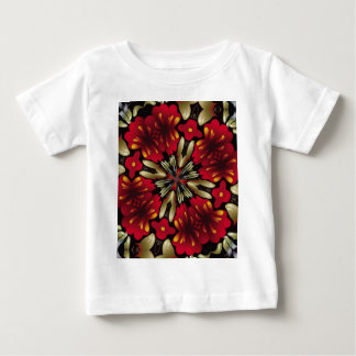 Tropical Red Mandala Kaleidoscope Baby T-Shirt