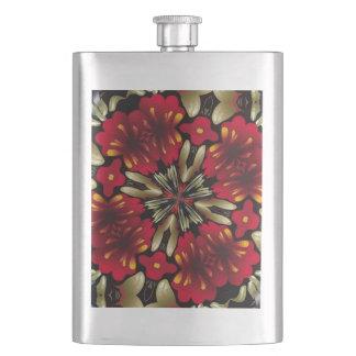 Tropical Red Mandala Kaleidoscope Flask