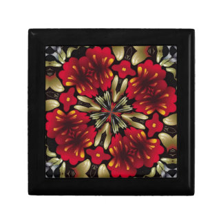 Tropical Red Mandala Kaleidoscope Gift Box