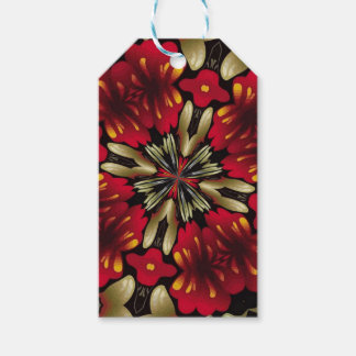 Tropical Red Mandala Kaleidoscope Pack Of Gift Tags