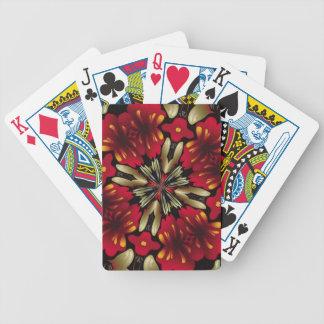 Tropical Red Mandala Kaleidoscope Poker Deck