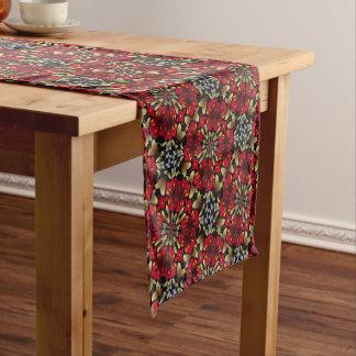 Tropical Red Mandala Kaleidoscope Short Table Runner