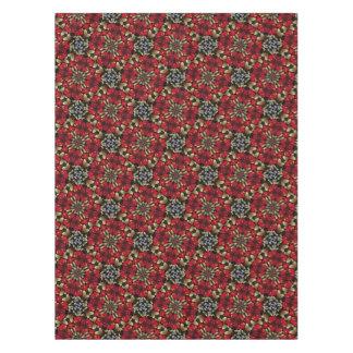 Tropical Red Mandala Kaleidoscope Tablecloth