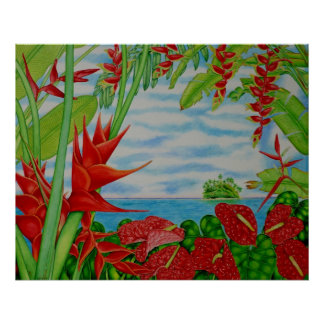 Tropical Red Poster