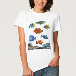Tropical Reef With Fish Tees