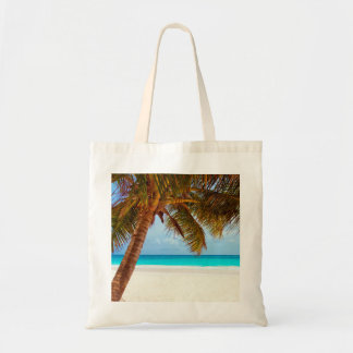 Tropical Relaxing Beach Palm Scene