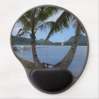 Tropical relaxing rounded mousepad