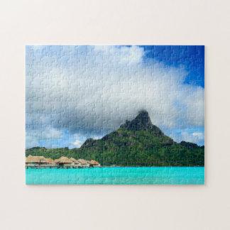 Tropical resort on Bora Bora jigsaw puzzle