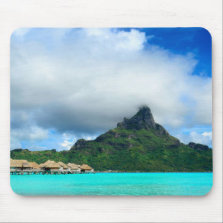 Tropical resort on Bora Bora mousepad
