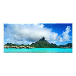 Tropical resort on Bora Bora photo print