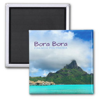 Tropical resort on Bora Bora text magnet