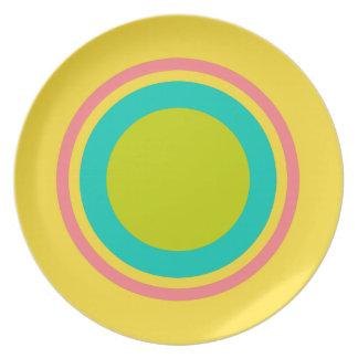 Tropical Rings on Banana Yellow Plate