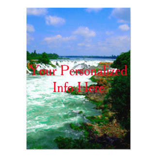 Tropical River Waterfall Card