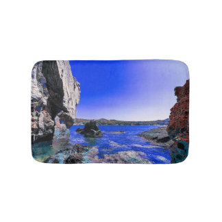 Tropical Rocky Lagoon Bath Mat