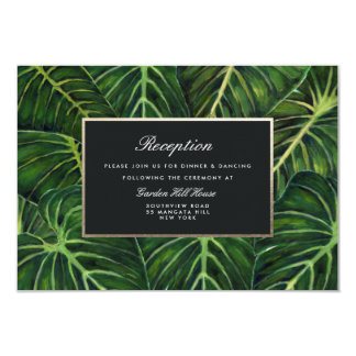 Tropical Romance / Reception Card