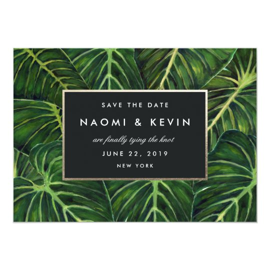 Tropical Romance / Save the Date Card