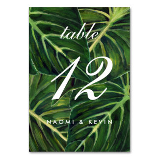 Tropical Romance / Table No. Card