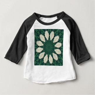 Tropical Sacramento Green and Silver Leaf Mandala. Baby T-Shirt