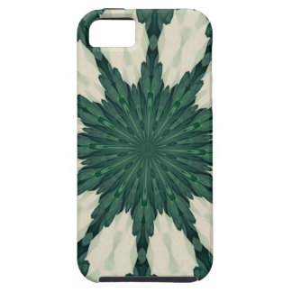 Tropical Sacramento Green and Silver Leaf Mandala. Case For The iPhone 5