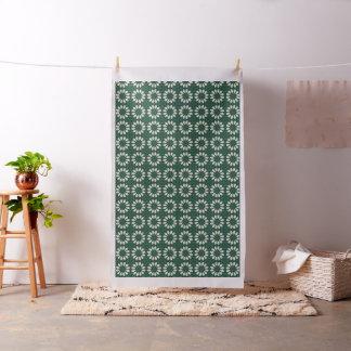 Tropical Sacramento Green and Silver Leaf Mandala Fabric