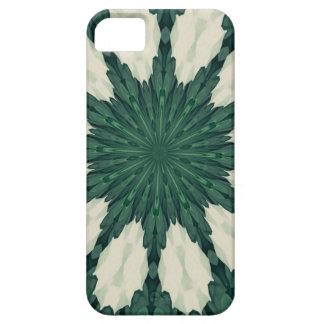 Tropical Sacramento Green and Silver Leaf Mandala. iPhone 5 Cover
