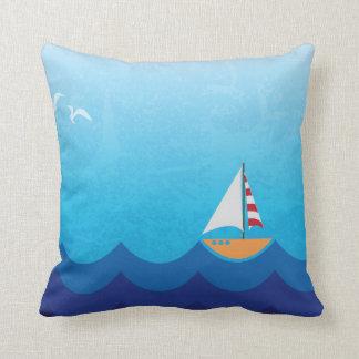 Tropical Sailboat Decorative Throw Pillow
