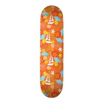 Tropical Sailboat Pattern Custom Skate Board