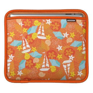 Tropical Sailboat Pattern iPad Sleeves
